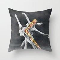 ballet Throw Pillows featuring Ballet by Ben Giles