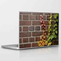climbing Laptop & iPad Skins featuring Climbing by C. Wie Design