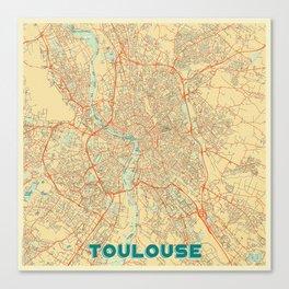 Toulouse Map Retro Canvas Print
