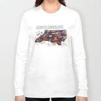 north carolina Long Sleeve T-shirts featuring NORTH CAROLINA by Christiane Engel