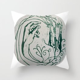Artist´s hand Throw Pillow