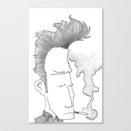 Big-haired Smoker #1 Canvas Print