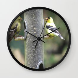 Dungeoness, Railroad Park, Goldfinches Wall Clock
