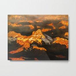 sunrise over the rocks Metal Print