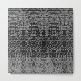 Monochrome aliens abstract Metal Print