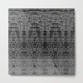 Monochrome aliens abstract Metal Print