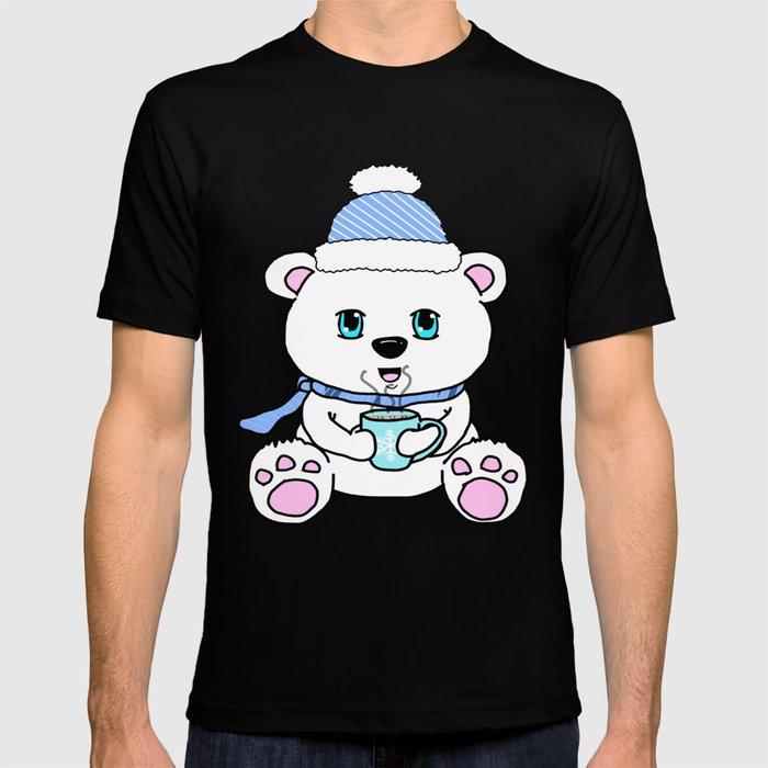 Polar Bear Drinking Hot Chocolate T-shirt