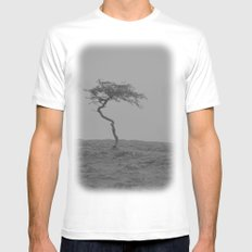 alone... Mens Fitted Tee White MEDIUM