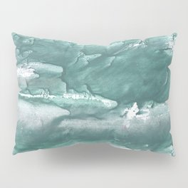 Marine color blurred wash drawing design Pillow Sham