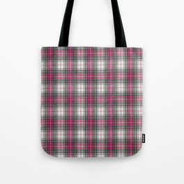 brooklyn red & white - holiday and everyday classic red white plaid check tartan Tote Bag