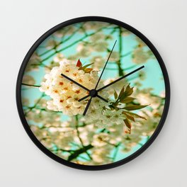 White Spring Love Wall Clock