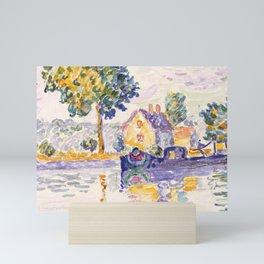 "Paul Signac ""View of the Seine, Samois"" Mini Art Print"