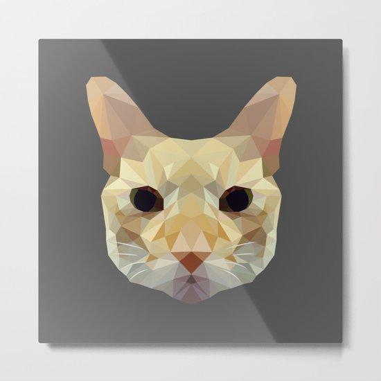 geometric cat head Metal Print