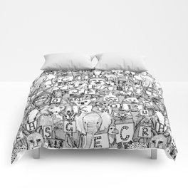 animal ABC black white Comforters
