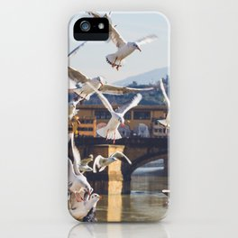 Seagulls Attack!! iPhone Case