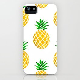 Beautiful Pineapple Pattern iPhone Case