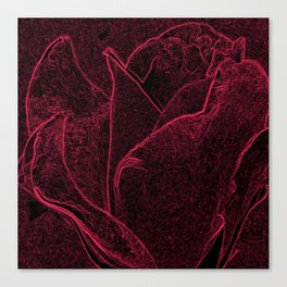 Gothic Rose in Black and Scarlet Canvas Print