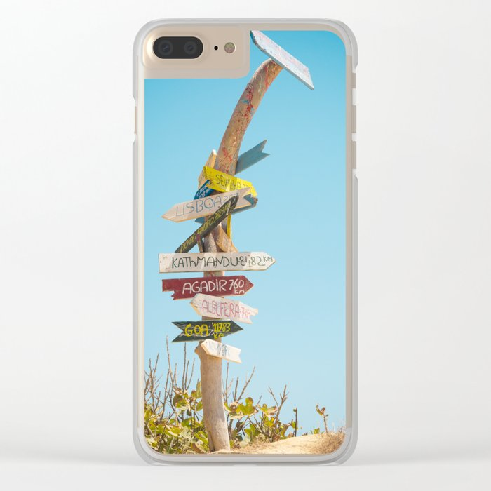 Arrows distance Clear iPhone Case