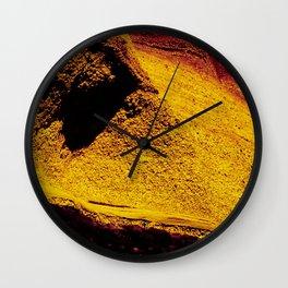 Violet Yellow Stone Wall Clock
