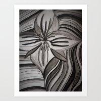 Flower in December  Art Print