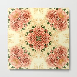 Abstract Peony Pink,Abstract Floral SB73 Metal Print