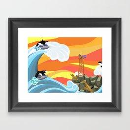Last Ditch Effort Framed Art Print