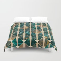 Art Deco Tiles - Ocean Duvet Cover