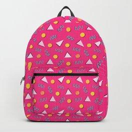 Geometric Memphis in Pink Backpack