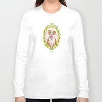 pit bull Long Sleeve T-shirts featuring Remy the Pit Bull by Alina Bachmann