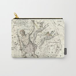 Constellations Bootes, Canes Venatici - Celestial Atlas Plate 7 Alexander Jamieson Carry-All Pouch