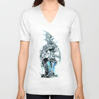 dungeons and dragons V-neck T-shirts featuring dragons by Vector Art
