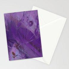 Purple Fan  Stationery Cards