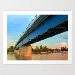 Bridge across the river Danube   architectural photography Art Print