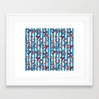 bikini Framed Art Prints featuring bikini by lindseyclare