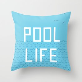 Pool Life Swimmer Throw Pillow