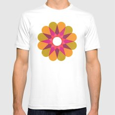 Springtime White MEDIUM Mens Fitted Tee