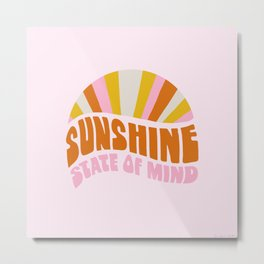 sunshine state of mind, type Metal Print