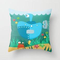 SUBMARINE (AQUATIC VEHICLES) Throw Pillow