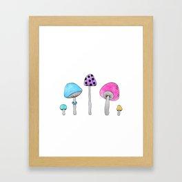Colorful Shrooms Framed Art Print