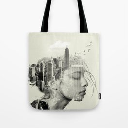 New York City reflection Tote Bag