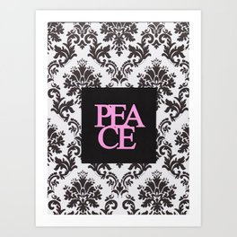 peace in black and white Art Print