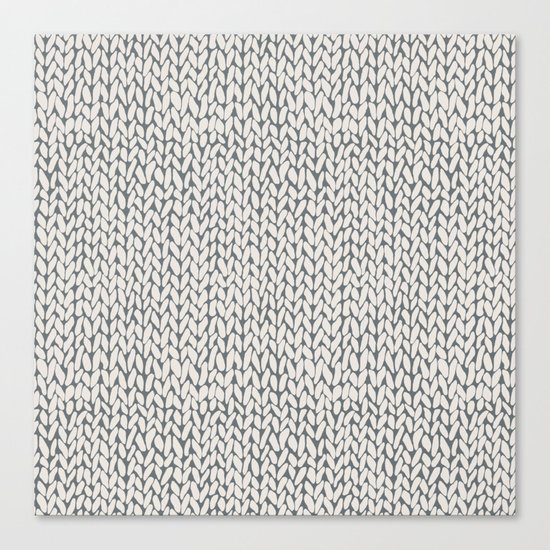 Hand Knit Grey Canvas Print