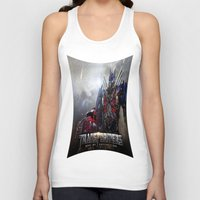 transformers Tank Tops featuring transformers  , transformers  games, transformers  blanket, transformers  duvet cover by ira gora