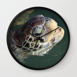 Sea Turtle - Grand Cayman Wall Clock