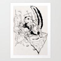 Tazer Art Print