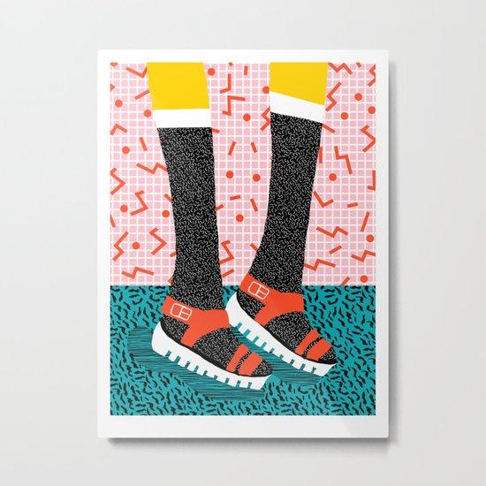Kicks - throwback retro vintage 1980 1980's 80s 80's memphis bright neon colorful urban chic hipster Metal Print