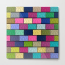 Colourful Mosaics Metal Print