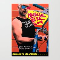 muscle Canvas Prints featuring muscle bike  by Davey Charles