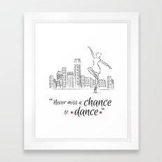 Chance to dance Framed Art Print