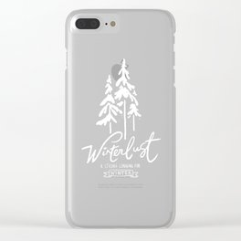 winterlust Clear iPhone Case